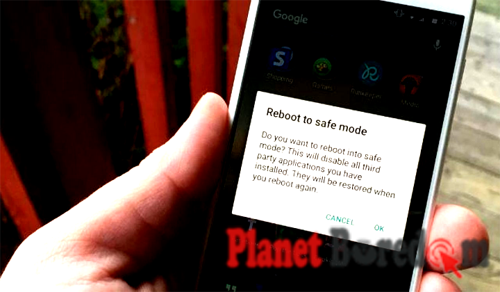 reboot safe mode android