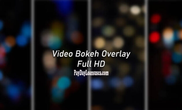 video bokeh overlay HD