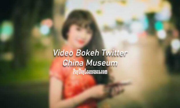 video bokeh twitter china museum